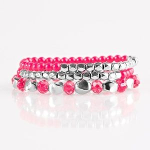 💍 5 for $25 sale! 💍 Pink Bracelet Set